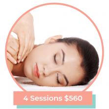 90 Min Massage 4 Sessions